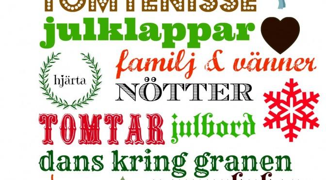 Swedish Christmas vocabulary