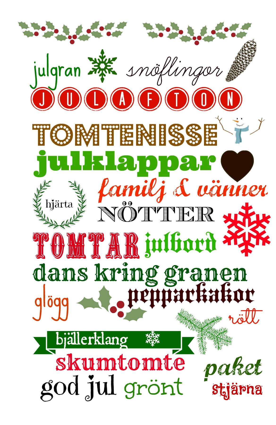 Swedish christmas words