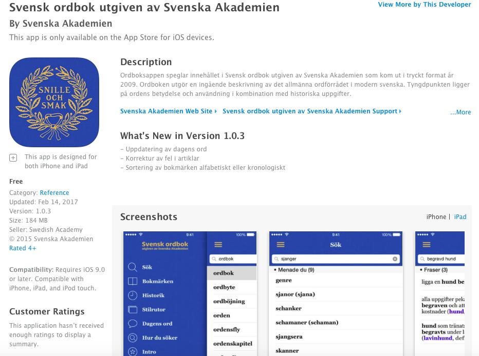 svensk ordbok