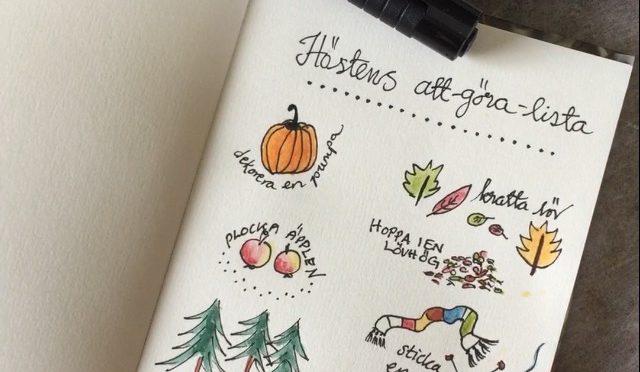 Höstens att-göra-lista